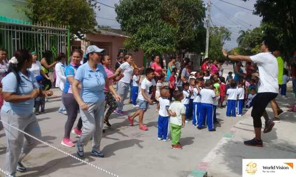 Durante los talleres se hicieron actividades de integración en comunidad